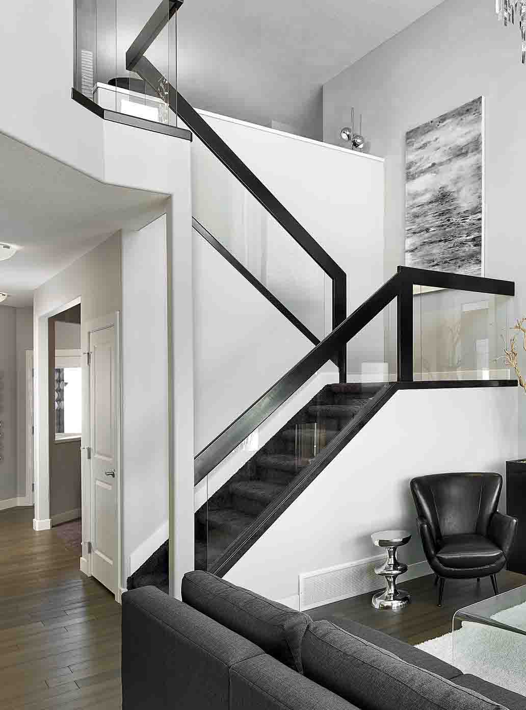 stair and railing in edmonton  alberta  balustrade