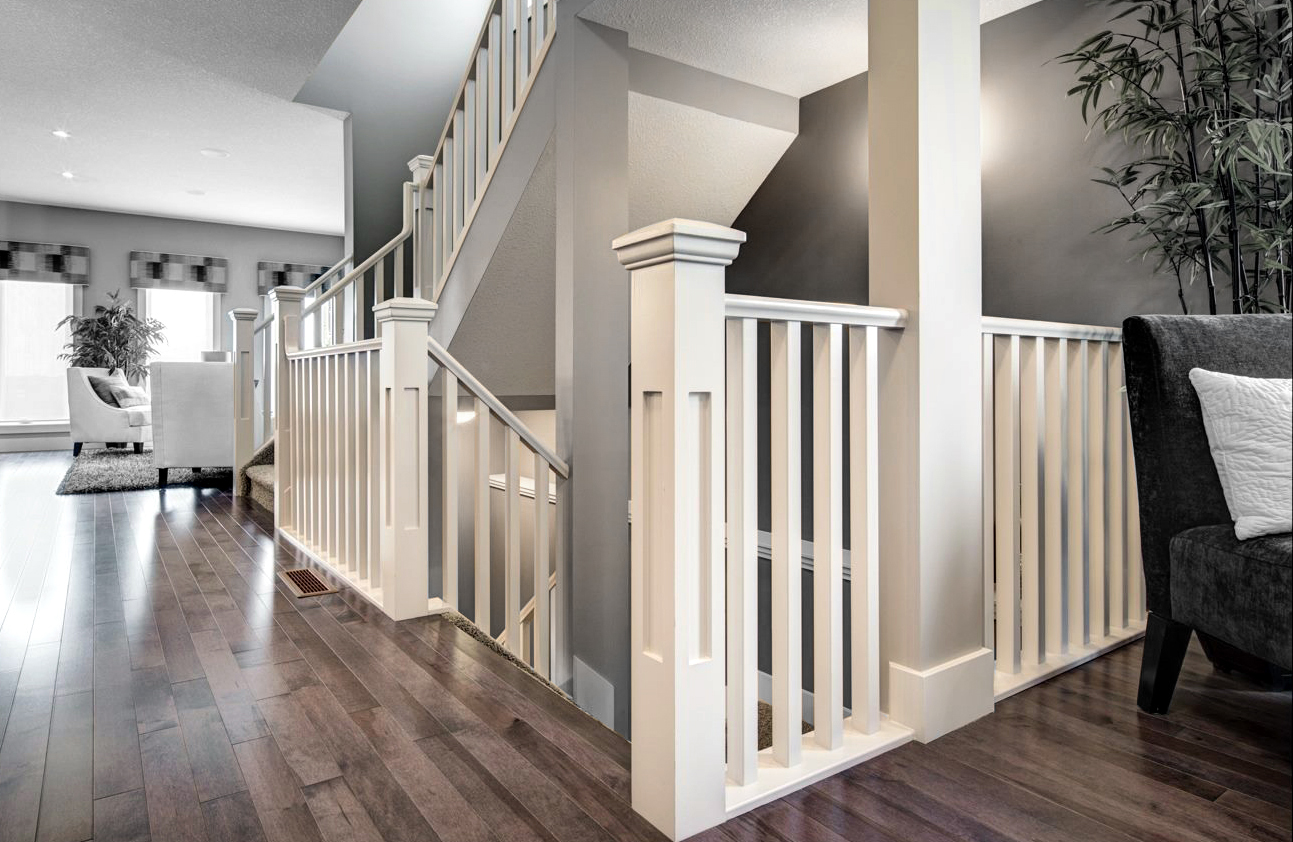 Stair And Railing In Edmonton Alberta Railing Balustrade